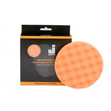 JETA PRO полировальный диск средней жесткости, 5873312,Оранжевый рифленый 150*25мм 2ой-шаг