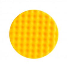 Mirka 7993415021, Средней жесткости, Желтый рифленый поролоновый полировальный диск 150 мм,